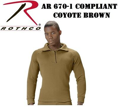 AR 670-1 Coyote Brown Top Military ECWCS Cold Weather Thermal H.W. Rothco 3861