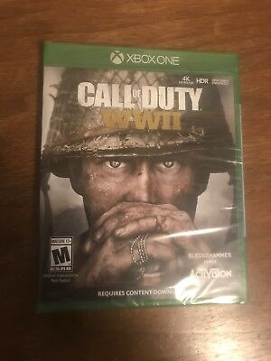 Call of Duty: WWII (Microsoft Xbox One, 2017) Factory Sealed!