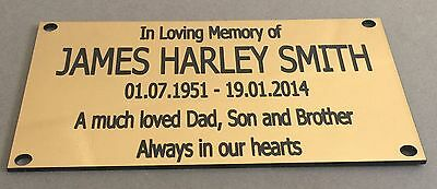 BP42 Bench Dad Son Father Grandad Papa ABS Engraved Brass Memorial Plaque Grave