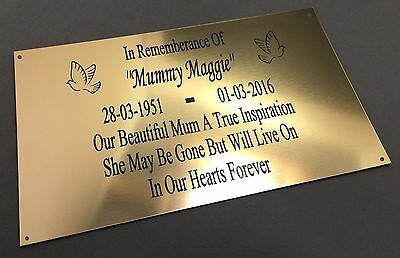 BP66 SON Personalised ABS Engraved Brass Memorial Plaque Grave Marker Stone