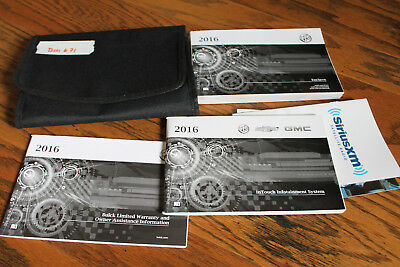 2016 Buick Encore Owners Manual With Case And Navigation Bui671