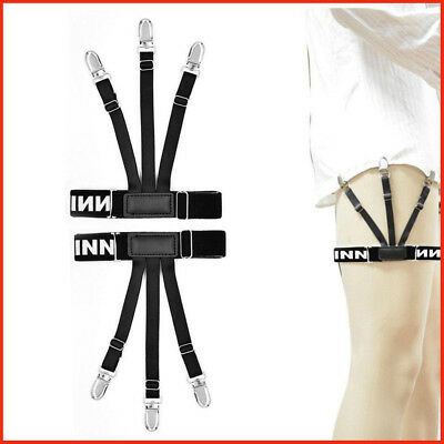 1pair Mens Shirt Suspenders Braces For Shirts Leg Elastic Strap Non-slip Hot/018