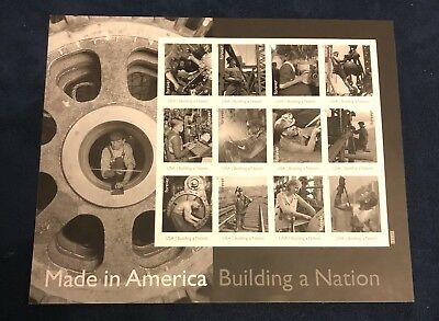 MADE IN AMERICA US 2013 SCOTT #4801e TORCH CUTTER WORKER 12 FOREVER STAMP SHEET