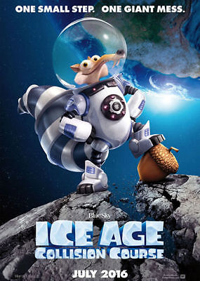 ICE AGE: COLLISION COURSE - NEW 2016 13.5x20 TWO-SIDED (DS) MOVIE POSTER