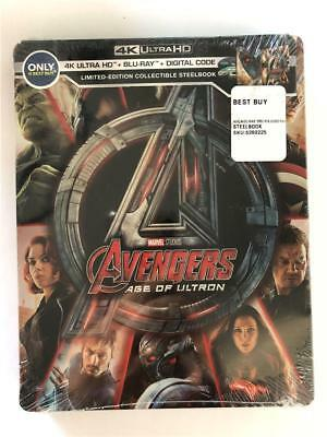 Avengers Age Of Ultron Limited Edition Collectible Steelbook 4K Ultra HD Blu Ray