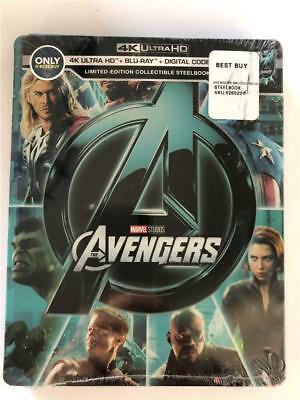 The Avengers Limited Edition Collectible Steelbook 4K Ultra HD Blu Ray & Digital