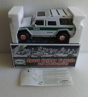 Brand New In Box Nib 2004 Hess Sport Utility Vehicle & Motor Cycles Toy Truck
