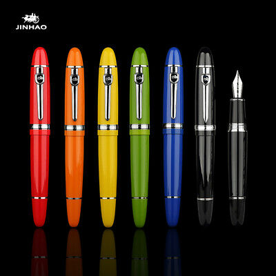 Jinhao 159 Metal Fountain Pen with Silver Clip Big Size Writing Office Ink Pen