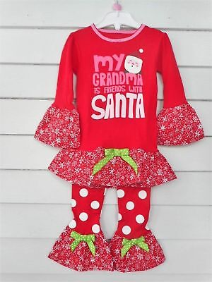 fa7abd931fdb CARTERS CHRISTMAS PAJAMA Outfit Handmade Ruffles Toddler Girls Size 3T NEW