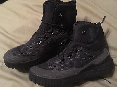 huge selection of 46d8c 04a9b Nike Air Wild Mid Mens Size 13 Boots Trail Triple Black Anthracite 916819- 001