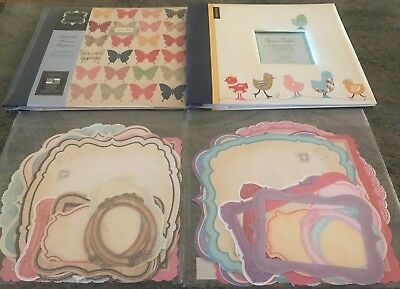 2 Grant Archival Grace Taylor Scrapbook Albums & 2 Packets Die Cuts Never Used