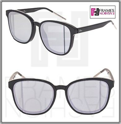 6f17c1aec94 CHRISTIAN DIOR STEP Black Silver Mirrored Sunglasses STEPF Unisex Oversized