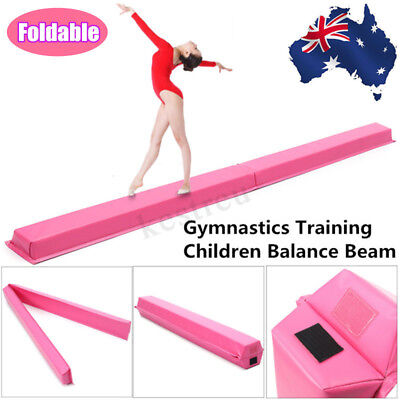 2.4M 7.8FT Gymnastics Floor Balance Beam Skill Performance Training Folding AU