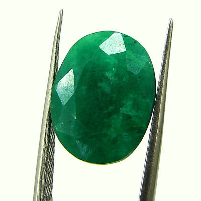 5.86 Ct Certified Natural Green Emerald Loose Oval Cut Gemstone Stone - 131226