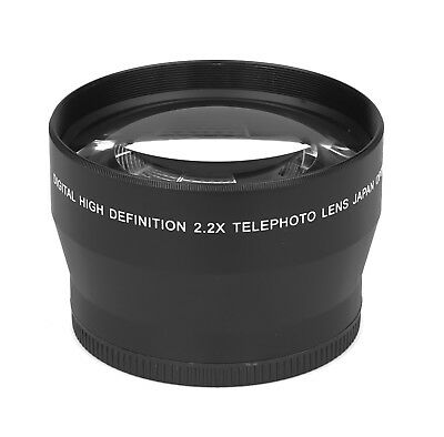2.2x - 72mm HD Tele Ancillary Lens Real Glass Branded Optics Resolution