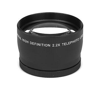 2.2x - 58mm HD Tele Ancillary Lens Real Glass Branded Optics Resolution