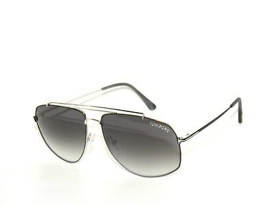 a54ee3219521b2 Tom Ford Georges Tf496 Silver matte Black gray Gradient 18A Sunglasses 496