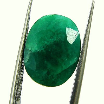 5.06 Ct Certified Natural Green Emerald Loose Oval Cut Gemstone Stone - 131267