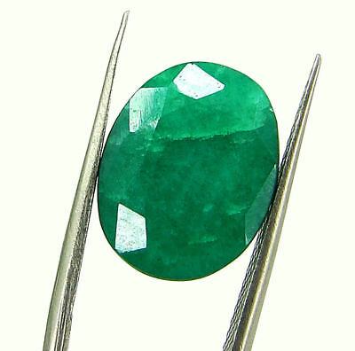 6.64 Ct Certified Natural Green Emerald Loose Oval Cut Gemstone Stone - 131202