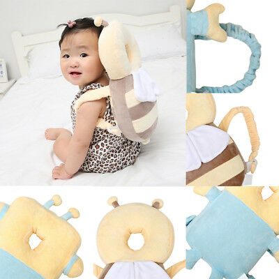 Infant Baby Walking Head Back Protection Safety Pad Harness Cushion Honeybee Bee