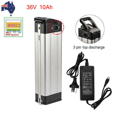 36V 10AH E-bike Lithium 18650 Battery Pack for 350W Electric Bicycle BMS Charger