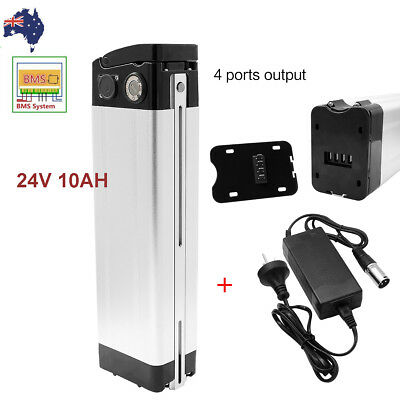 24V 10AH Li-ion Lithium Battery Pack fr 250W Electric Bicycles E-Bike 18650 Cell