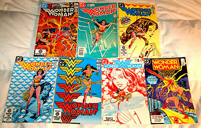 Wonder Woman #301-306, 310 lot of 7, DC Comics 1983 Gene Colan