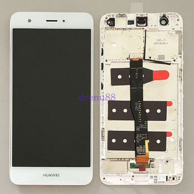 Bianco Huawei Nova Touch Digitizer Screen Vetro LCD Display Assembly + Telaio