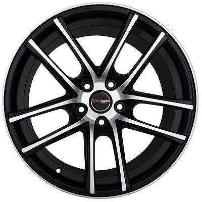 set of 4 gwg wheels 18 inch black machined flow 18x8 rims fits 5x120 2008 Buick Regal Carrageen Color 4 gwg zero 18 inch black machined rims 18x9 fits buick regal gs 2000 2004