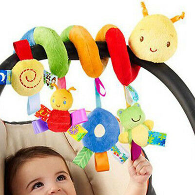 Newborn Infant Baby Pram Bed Cot Crib Stroller Soft Hanging Toy Animal Rattles