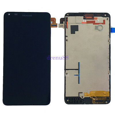 NERO Per Microsoft Lumia 640 Touch Digitizer Screen Vetro LCD Display + Telaio