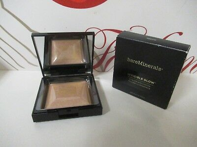 Bare Minerals Invisible Glow Powder Highlighter Medium 0.24 Oz. Boxed