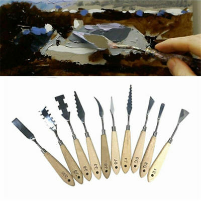 Stainless Steel Art Palette Scrape Shovel Spatula Oil Painting Knife Artist Tool