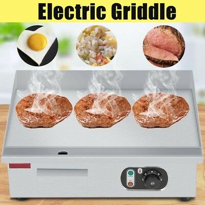 3000W Commercial Electric Countertop Griddle 55*45cm Flat Hotplate Kitchen Grill