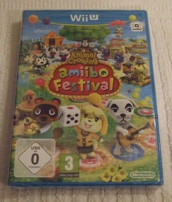 NINTENDO Wii U GAME  ** ANIMAL CROSSING - AMIIBO FESTIVAL ** YEAR 2015 - NEW