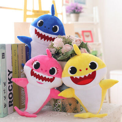 Baby Shark Plush Doll Plush Toys With Music English Song For Kids Cute Gifts
