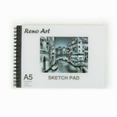 2 X Sketch Book Pad A5 30 Sheet 140 gsm Drawing Painting Art Craft Reno Art