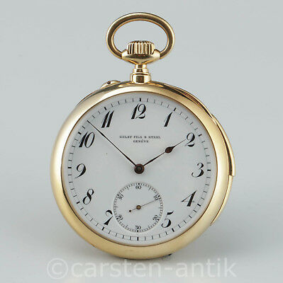 Golay Fils &  Stahl Genève 18k Gold 5 min repeater pocket watch Switzerland 1900