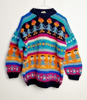 MAGLIONE HAND MADE CULT VINTAGE 90s  MADE IN NEPAL TG M/L MG130