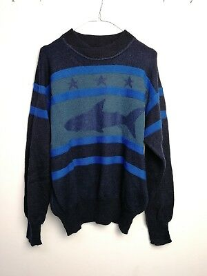MAGLIONE ICEBERG CULT VINTAGE 90s MADE IN ITALY 100%WOOL  TG L MG144