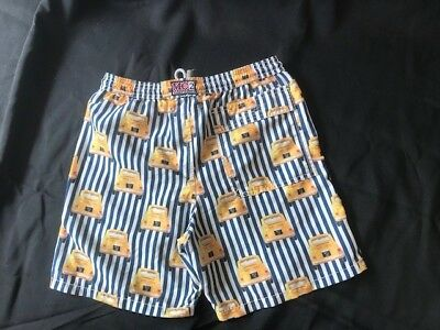 Mc2 St Barth Boys Yellow Taxis Print Swim Shorts Ages 10,11,12 Years