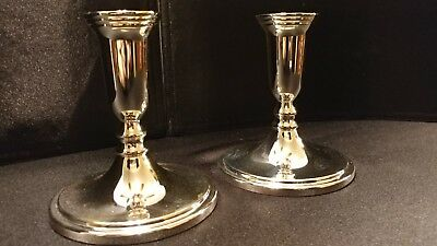 Godinger Silver Plated Candleholders - Set of 2 - 5 Inches Tall - NIB