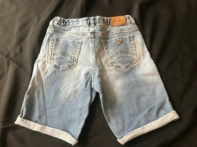 ARMANI JUNIOR boys Denim Jean Shorts Age Size 6 7 8 9 trousers designer