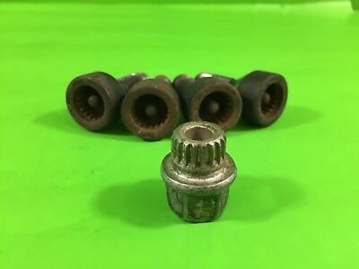 Bmw 5 Series E61 E60 Locking Wheel Nuts With Key 2003-2010