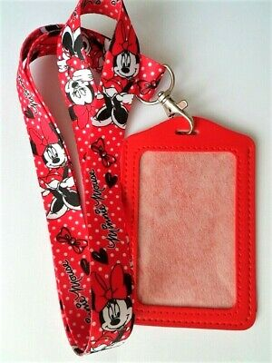 Disney Minnie Mouse Lanyard Neck Strap + ID / Credit Card / Business Card Holder