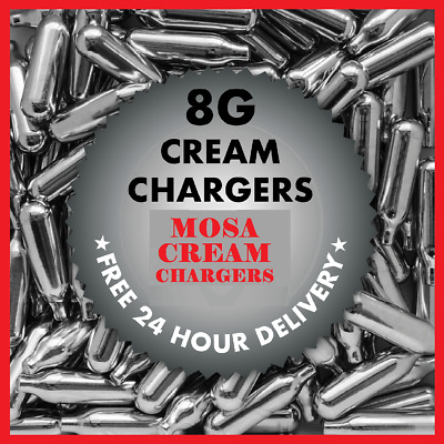 Mosa 8g NOS N2O NOZ Canisters Whipped Cream Chargers & Mosa Dispensers