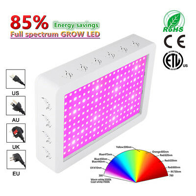 1000W 2000W LED Grow Lights Full Spectrum lamp for Veg Flower Indoor Plant Hydro