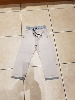 Boys Lined Stone Trousers From Next, Age 2-3, Used Excellent Condition