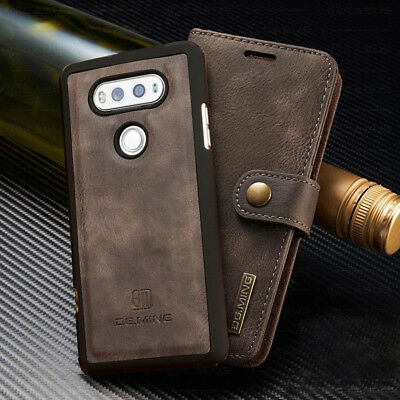 For LG G6/7 ThinQ V20/30  Removable Magnetic Leather Card Wallet Case Flip Cover