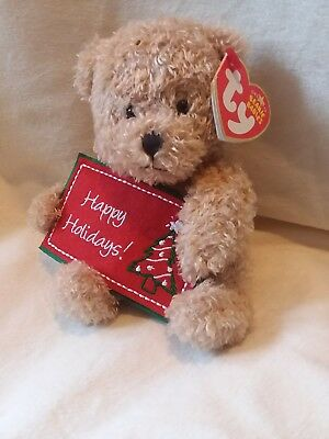 4959d605dd5 TY BEANIE BABY ~ HAPPY HOLIDAYS Bear (Greetings Collection)(6 Inch ...